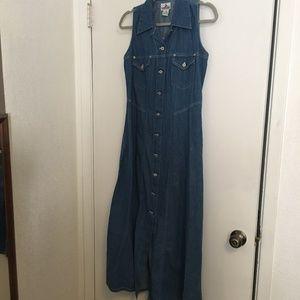 Crazy Horse Long Denim Dress Size M
